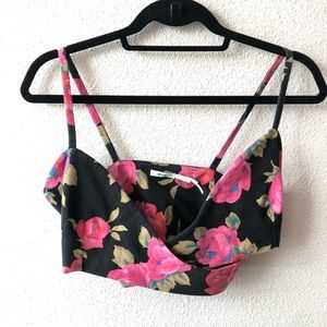 Urban Outfitters Floral Crop / Bralette Style Top